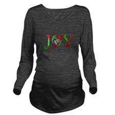Christmas Joy Squirrel Long Sleeve Maternity T-Shi