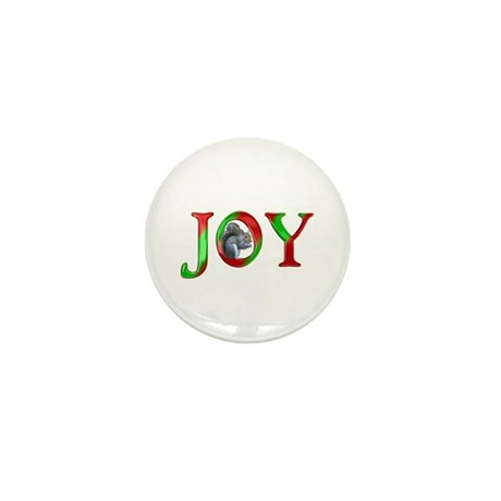 Christmas Joy Squirrel Mini Button