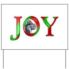 Christmas Joy Squirrel Yard Sign
