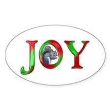 Christmas Joy Squirrel Decal
