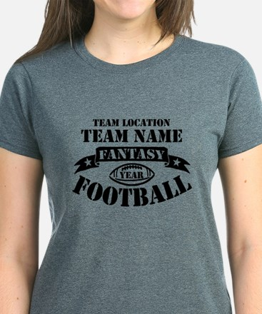 Personalized Fantasy Blk T-Shirt