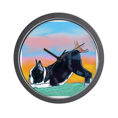 Boston Bull Terrier Wall Clock
