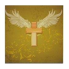 Angel Wings Cross Tile Coaster
