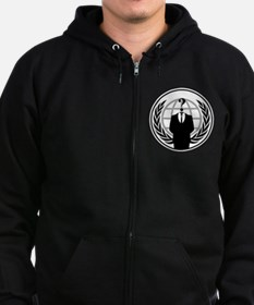 Anonymous 99% Occupy t-shirt Zip Hoodie
