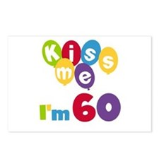 Kiss Me I'm 60 Postcards (Package of 8)