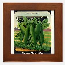 PEAS - Early Alaska crnc Framed Tile