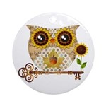 Owls Autumn Song Ornament (Round)