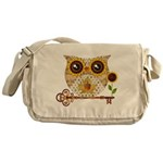 Owls Autumn Song Messenger Bag