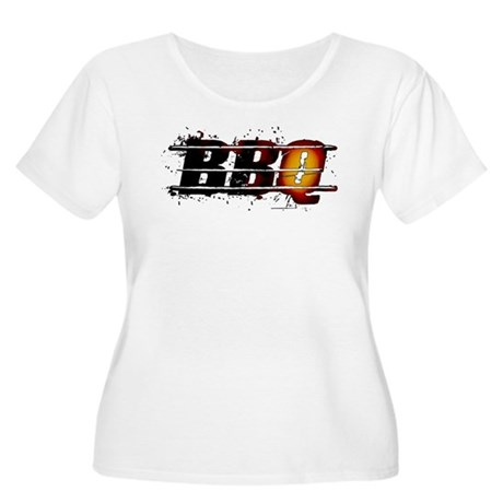 BBQ Women's Plus Size Scoop Neck T-Shirt