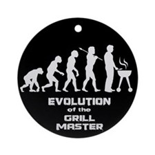 Evolution of the Grill Master Ornament (Round)