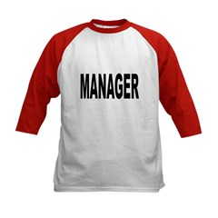 Manager (Front) Kids Baseball Jersey