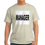 Manager (Front) Ash Grey T-Shirt