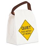 QUIET Egg Artist Canvas Lunch Bag