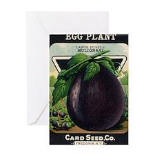 EGGPLANT - Large Purple Mulignani crnc Greeting Ca