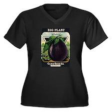EGGPLANT - Large Purple Mulignani crnc Plus Size T