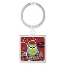 Whoo are you? Square Keychain