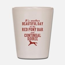 Longmire Red Pony Continual Soiree Shot Glass