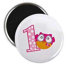 Cute Pink Owl Magnet