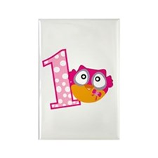 Cute Pink Owl Rectangle Magnet