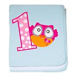 Girl owl blanket Cotton