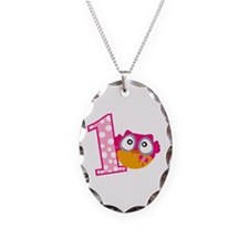 Cute Pink Owl Necklace Oval Charm