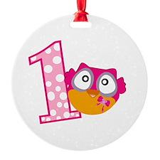 Cute Pink Owl Ornament