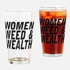 Women Weed & Wealth Drinking Glass