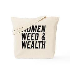 Women Weed & Wealth Tote Bag