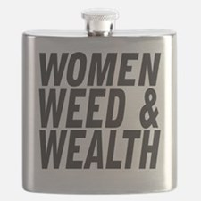 Women Weed & Wealth Flask