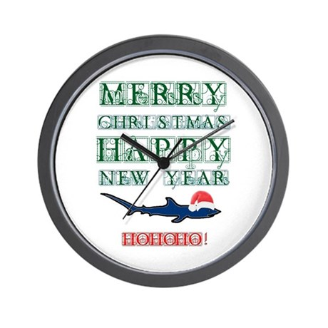 Santa Shark Wall Clock
