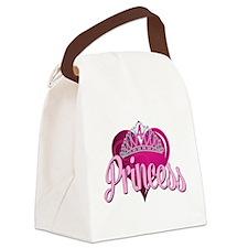 Princess 4th Birthday Canvas Lunch Bag