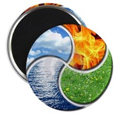 Four Elements Ying Yang Magnet