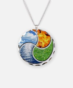 Four Elements Ying Yang Necklace