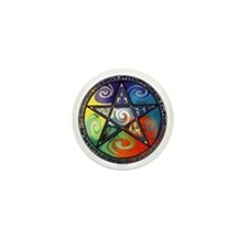 Wiccan Elements Mini Button