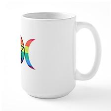 Rainbow Triple Moon Mug