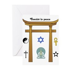 coexist in peace Greeting Cards (Pk of 10)