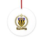 BEAUCHAMP Family Crest Ornament (Round)