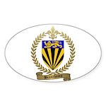BEAUCHAMP Family Crest Oval Sticker