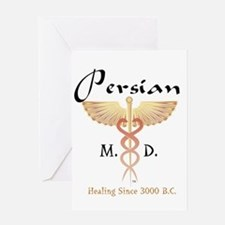 Red Persian M.D. Greeting Cards