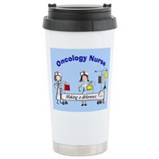 Oncology Nurse making a diff BLUE Travel Mug