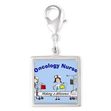 Oncology Nurse making a diff BLUE Charms
