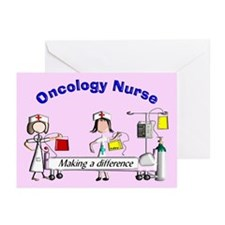 Oncology Nurse making a diff BLANKET Greeting Card