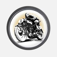 Classic Cafe Racer Wall Clock