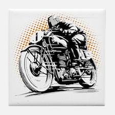 Classic Cafe Racer Tile Coaster