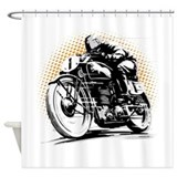 Cafe racer Shower Curtains