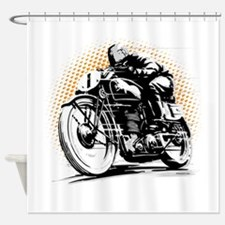 Classic Cafe Racer Shower Curtain