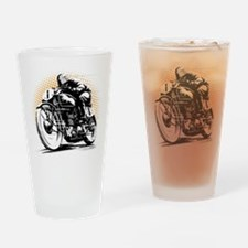 Classic Cafe Racer Drinking Glass