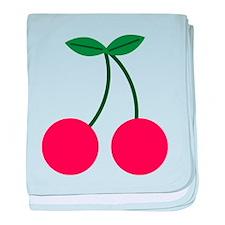 Cherry baby blanket