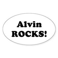 Alvin Rocks! Oval Decal