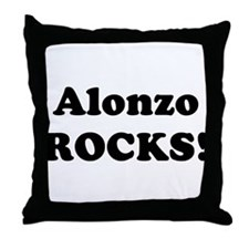 Alonzo Rocks! Throw Pillow
